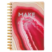 Merangue A5 Coiled PU Notebook, 100 Sheets, Pink Design