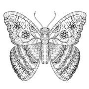 Muralz – Mandala à motif de papillon, pelez et collez, adhésif non permanent