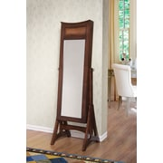 W Home Bedford Classic Long Cheval Mirror Jewelry Cabinet Storage, Armoire