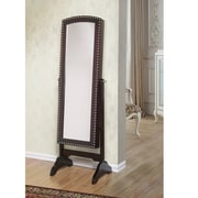 W Home Abby Classic Long Cheval Mirror Jewelry Cabinet Storage, Armoire