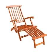 VIFAH Malibu V156 Outdoor Wood Folding Steamer Lounge