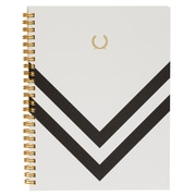 Alfred Sung A5 Spiral Notebook, Black Chevron
