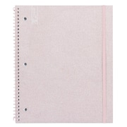 "Yoobi 1 Subject College Ruled Notebook, 9"" x 11"", Pink Glitter"