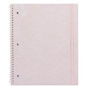 "Yoobi 1 Subject College Ruled Notebook, 9"" x 11"", Pink Glitter"