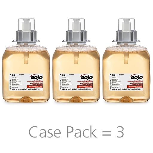 b2c43e2e0f58 GOJO Luxury Foam Antibacterial Handwash Refill, Orange Blossom, 42 oz.,  3/Carton (5162-03)