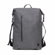 """Cromwell Grey Water Resistant Roll Top Laptop Backpack 14"""""""