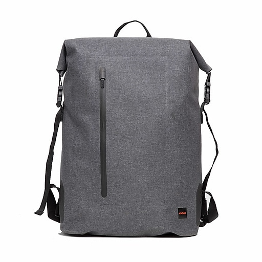 94657615a Cromwell Grey Water Resistant Roll Top Laptop Backpack 14