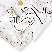 South Shore Dreamit 6-Piece Baby Bedding Floral, White and Pink