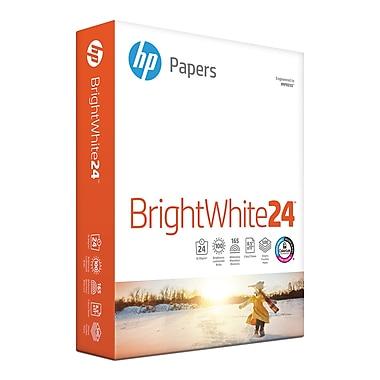 HP - Papier jet d'encre blanc brillant, 24 lb, 8,5 po x 11 po, rame