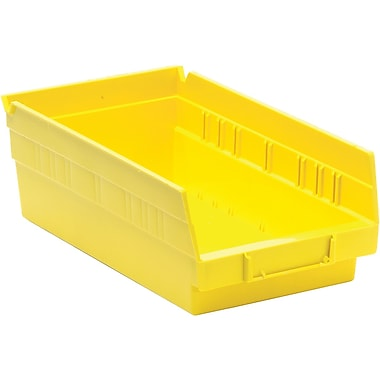 Quantum Storage Economy Shelf Bins, Yellow, 36/Pack (QSB102-YELLOW)