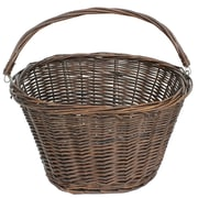 Cathay Importers Brown Willow Bicycle Basket with Carrying Handle