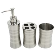 Cathay Importers Stainless Steel Bathroom Set, 3/Pack