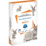 "Hammermill Fore Copy & Multipurpose Paper, Ledger/Tabloid, 11"" x 17"", 24 lb Basis Weight, Smooth, 96 Brightness, 1 Ream, White"