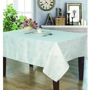 Home Secret Jacquard Waterproof Christmas Tablecloth, Snow Flake Pattern