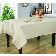 Home Secret Engineer Jacquard Waterproof Tablecloth, Taupe Julie Pattern