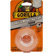 Gorilla – Ruban adhésif de montage robuste et transparent, double face, 1 po x 60 po
