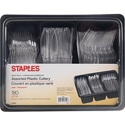Staples Plastic Cutlery and Keeper