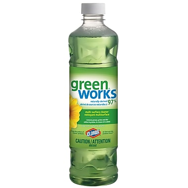 Green Works Multi-Surface Dilutable Cleaner, Original Citrus Scent, 828 mL (CL01066)