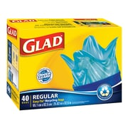 Glad Blue Recycling Bags, Regular, 75 L, 40 Bags/Pack, 6 Packs/Case (CL11573)