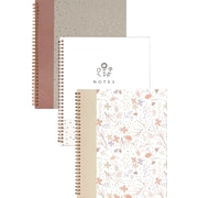 """Emma Verde Notebook, 10-1/2"""" x 8-5/8"""", 140 Pages, Assorted (07096)"""