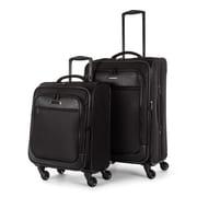 "Bugatti 26"" & 21"" Soft Luggage Set, Black"