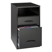 "Space Solutions 18"" 2-Drawer Soho Organizer Shelf, Black"