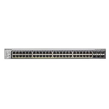 NETGEAR 52-Port Smart Managed Pro Switch 48GbE, PoE+/384W, SFP+ (GS752TPSB)