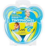 JVC – Casque d'écoute pour enfants HA-KD7-Y, jaune et bleu