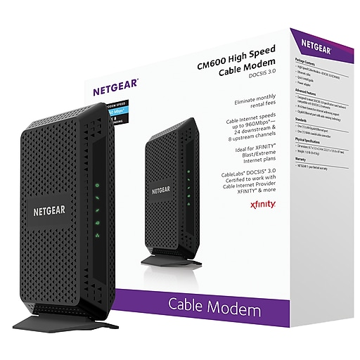 NETGEAR DOCSIS 3.0 24x8 Cable Modem - CM600 | Staples on dvi to vga adapter wiring diagram, battery wiring diagram, microphone wiring diagram, firewall wiring diagram, network wiring diagram, modem network diagram, wireless modem router diagram, usb adapter wiring diagram, audio wiring diagram, cable pinout diagram, card reader wiring diagram, modem router switch diagram, power wiring diagram, router wiring diagram, antenna wiring diagram, ups wiring diagram, rj45 straight through wiring diagram, modem router setup diagram, sata wiring diagram, usb to ethernet wiring diagram,