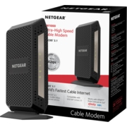 NETGEAR Ultra-High Speed Gigabit Cable Modem (32x8) DOCSIS 3 1 (CM1000)