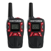 Craftsman 40 Kilometre GMRS/FRS Rechargeable Two-Way Radio, 2/Pack