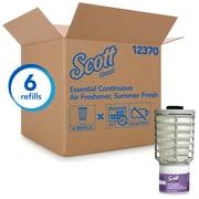 Scott Essential – Assainisseur d'air continu, parfum fraîcheur d'été, bte/6 recharges