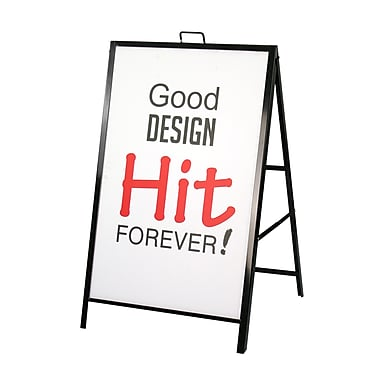 Futech - Porte-enseigne avec cadre en A métallique pour le trottoir Aframe013, 42 po x 25 ¼ po x 24 po, noir