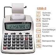 Victor 1208-2 12-Digit Desktop Calculator, White