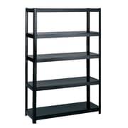 SafcoMD – Étagère commerciale en acier sans boulon, 5 tablettes, noir, 72 haut. x 48 1/8 larg. x 18 prof. (po)