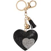 Merangue – Porte-clés à motif coeur noir brillant