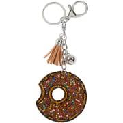 Merangue – Porte-clés à motif de beigne au chocolat brillant