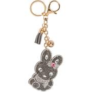 Merangue – Porte-clés à motif lapin argent brillant