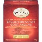 Twinings English Breakfast Enveloped Tea Bag, 50/Pack