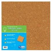 """Flipside Cork Tiles, 12"""" x 12"""", 4/Pk (FLP10058)"""