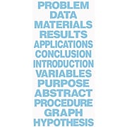 Flipside Science Fair Project Boards & Titles, Title, Light Blue