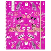 Yoobi 1-Subject Spiral College Ruled Notebook, 100-Sheets, Mirrored Icons Pink