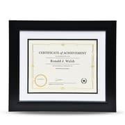 """St. James Awards & Certificate Frame, Tuxedo Black w/Double Mat, White/Black, 16-3/4 x 14-1/4"""" (43 x 36cm)"""
