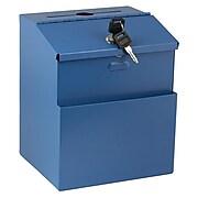 AdirOffice Locking Steel Suggestion Box, Blue (631-01-BLU)