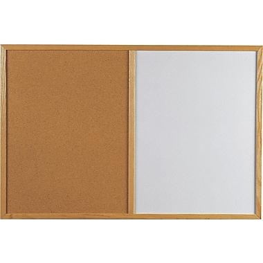 Quartet® - Tableau d'affichage avec cadre en chêne, 24 x 36 po