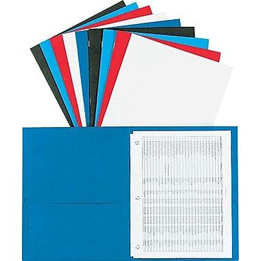 Oxford® - Portefeuille à deux pochettes avec attaches, 5 couleurs, paq./10