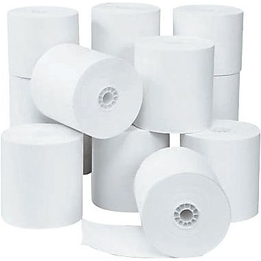 INCONEX/NCR Cash Register and Calculator Rolls, 1-Ply