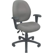 Global® Malaga Operator Chair, Silver Grey