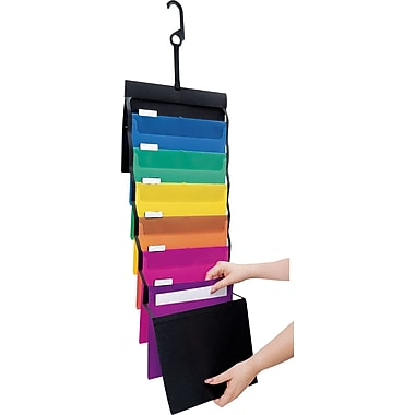 Pendaflex® Desk Free® Hanging Organizer with Case, Letter size, Black with Bright Colors