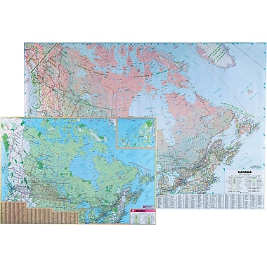 Globes Maps Flags Staples - Canada usa map states and provinces